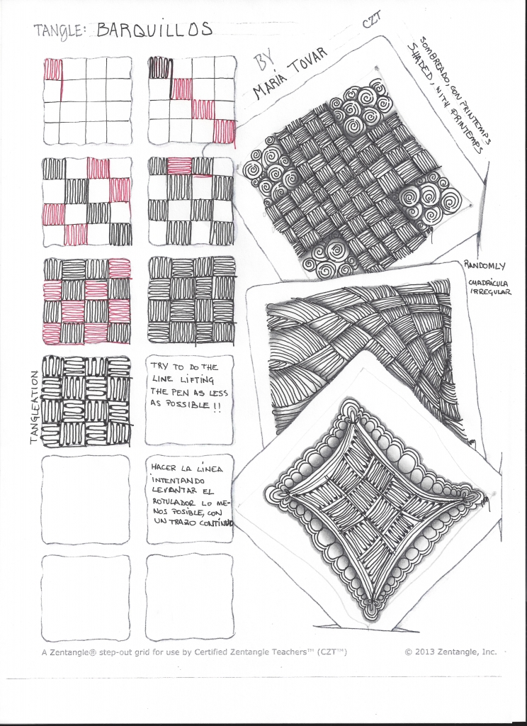 Zentangle en español- Nuevo tangle Barquillos