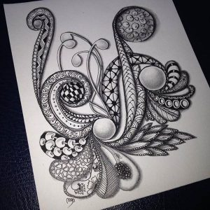 Volvemos a clase de Zentangle